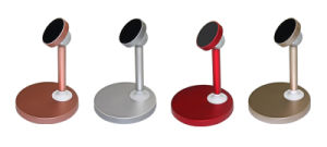デスクトップのアルミ合金の磁気ホールダーの電話立場の携帯電話のホールダー
