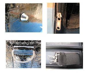 Amazon Hotsale Mini transportant le Crocodile noir en cuir Sac de cosmétiques