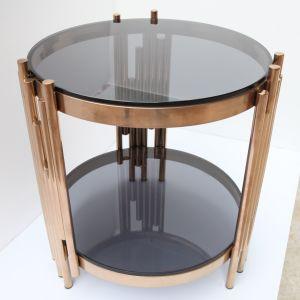 Tavolino da salotto di vetro di nuovo disegno con il blocco per grafici del metallo