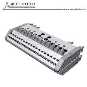 PMMA extrudeuse à double vis ASA enduit PVC mosaïque composite/tuile mosaïque Colonial/Bamboo/résine synthétique/Toit de tuiles tuiles de tôle ondulée sur/Wave/tile/ ligne d'Extrusion