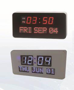 電気大きいディジットLEDの壁掛けカレンダーのクロック