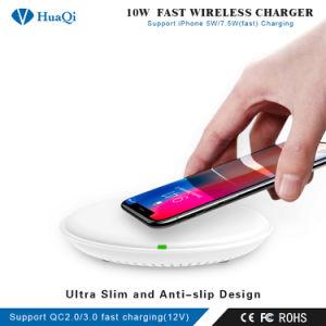 Últimas 10W/7.5W Qi rápido para el Smartphone soporte de carga/pad/estación/cargador para iPhone/Samsung o Nokia/Sony/Huawei/Xiaomi