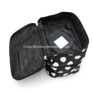 印刷されたサテンの構成の記憶のオルガナイザーの洗面用品旅行美の化粧品袋