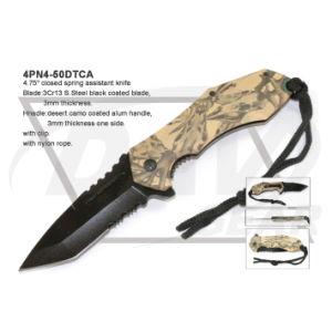 4,75 закрыта для использования вне помещений карманный нож с зеленым покрытием Camo: 4pn4-50gnca
