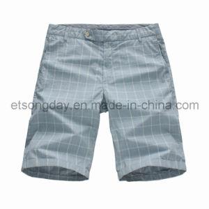 Shorts 100% del plaid degli uomini del cotone di stile di modo (JHB-01)