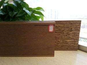 3D relieve compuesto de plástico pesado de madera revestimientos para suelos de exterior WPC