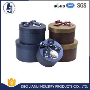 Une bonne conception Boîte ronde avec ruban de soie