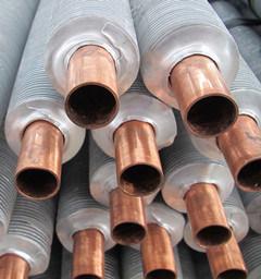 銅のひれ付き管