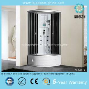 5mm de espesor de vidrio moderna cabina de ducha de vapor (BLS-9714)