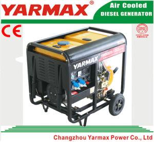 Yarmax 공기에 의하여 냉각되는 단 하나 실린더 디젤 엔진 열린 구조 디젤 엔진 발전기 세트 Genset Ym6500ea