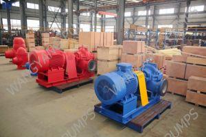 Double pompe centrifuge axialement dédoublée de cas d'aspiration d'étape simple