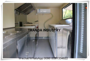 2017年のTrandaの企業の台所トレーラーの移動式食糧ヴァン
