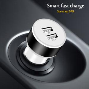 ユニバーサル5V 2.1AはアダプターiPhone 8のためのUSB車の充電器の二倍になる