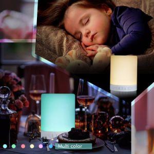 2018 Venda Quente Smart LED Controle Bluetooth a luz nocturna para bebé altifalante com leitor de música