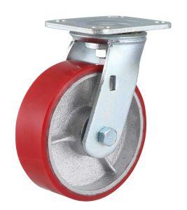 Rode PU no rodízio de Ferro Fundido com freio lateral