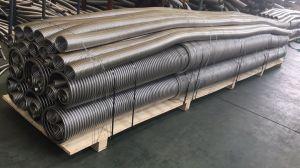 Tubo flessibile ondulato anulare durevole dell'intrecciatura del metallo flessibile con la flangia