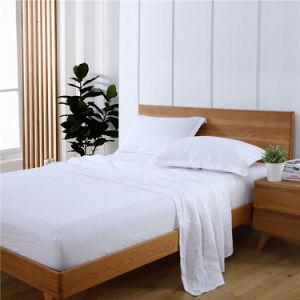 4PCS/Setはシート100%の純粋なリネン寝具の一定の上シートに合った