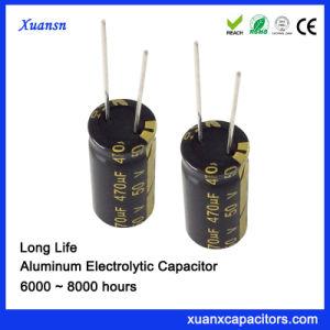 Populares 50V 470UF Capacitor capacitor eletrolítico de alumínio de longa duração