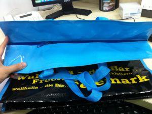 100% de material reciclado em tecido PP de Tamanho Grande Zipper Bag