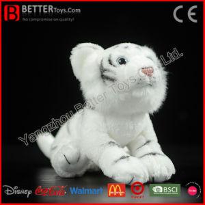 Private Label fr71 peluche réaliste animal en peluche tigre blanc Toy