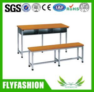 Banco escola escola duplo de mesa com mesa e cadeira (SF-46D)