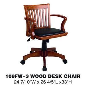 イタリアのオフィス用家具の木の旋回装置の机椅子