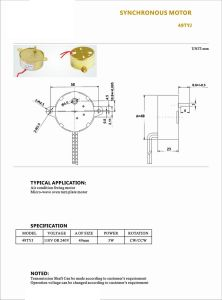 Condição de ar de Comando da Válvula do Motor do Ventilador síncrono para forno Micro-Wave