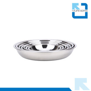 L'épaississement Hot vendre profonde Dîner en acier inoxydable assiette à soupe & plaque plat
