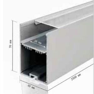 Ns4970 vertieftes lineares Aluminiumprofil für LED-Deckenleuchte