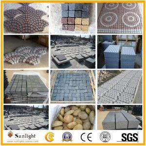 (100X100X50мм) черный базальтовой Rock/природных Split поверхности гранита асфальтирование камня вымощены булыжником камня