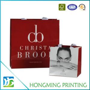 El papel impreso personalizado de la bolsa de cosméticos con asa de cuerda
