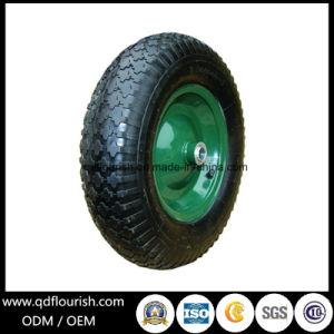 Roda inflável de borracha pneumática do ar do Wheelbarrow para o carro do trole