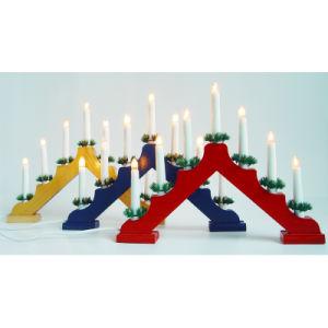 Decoración de Navidad C6 la bombilla de luz puente de la vela de madera
