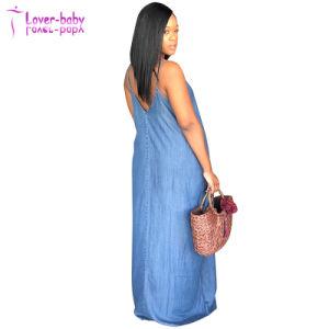L'été nouveau Fashion femmes robe de coton Denim de surcharge