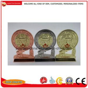 亜鉛合金はスポーツの金の金属の円形浮彫りのメダルおよびトロフィ賞のクラフトをカスタム設計する