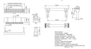 Gancho2.54pH mm conector IDC
