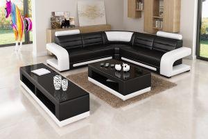 حديثة بينيّة أثاث لازم أعلى جلد أريكة لأنّ يعيش غرفة