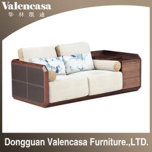 Mobiliario de casa de madera sofás de cuero sofá con función de almacenamiento