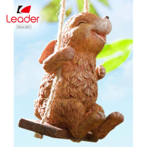 Polyresin bebé Fox en el jardín de giro de la Figurilla de decoración de jardín
