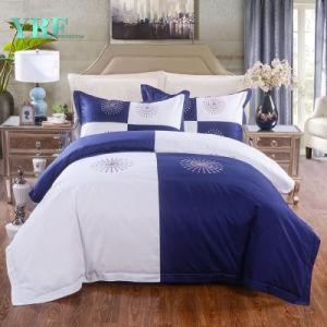 Yrfの贅沢で白く青いホテルの寝具の一定の贅沢な寝具セット