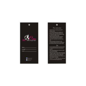 Weinlese-Kleid-Jeans-Papier-Fall-Marken-Entwurf mit Seil