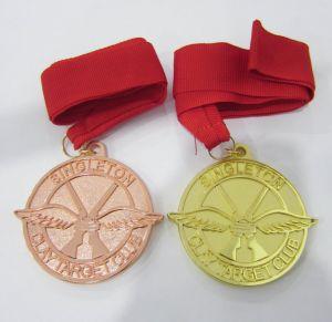 Form-dekorative kundenspezifische antike Golditalien-Stern-Form-Metallmedaille (109)