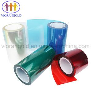 パッドスクリーンの保護のためのアクリルの接着剤が付いている25um/36um/50um/75um/100um/125umの青か赤いペット保護フィルム
