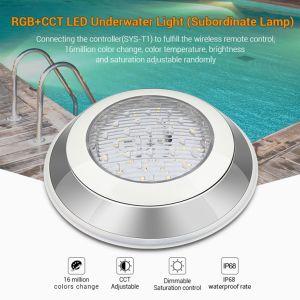 304ss 2.4G drahtlose esteuerte RGB+CCT LED Unterwasserschwimmen-Lampe