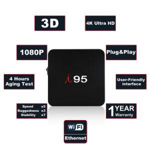 I 95 Felsen-Chip Rk3229 1GB RAM/8GB des gesetzten Spitzenkasten-IPTV Ott ROM-androider Fernsehapparat-Kasten 7.1.2 OS-intelligenter Fernsehapparat-Kasten