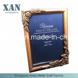 亜鉛合金の金属の銅のEngravの古典的な写真フレームD Ecoration