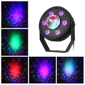 RGB de plástico Mini 6pzas 3 en 1 LED Efecto de la etapa de la luz de la par de decoración para DJ discoteca