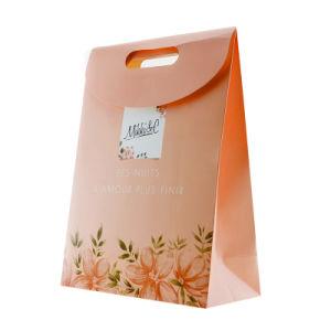 박판으로 만들어진 Eco-Friendly 분홍색 꽃은 커트 손잡이 종이 선물 부대를 정지한다