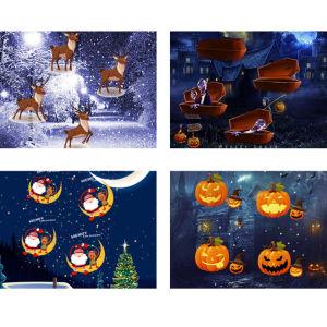 クリスマスのHalloweenの装飾の休日の景色プロジェクターのためのLEDプロジェクターランプは祝祭の主題12の防水スライドパターンをつける