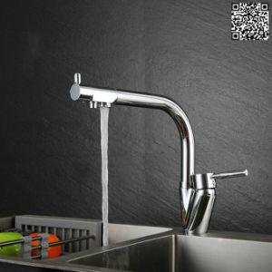 ろ過固体真鍮の現代的なデザイン3方法台所コックDgB3313